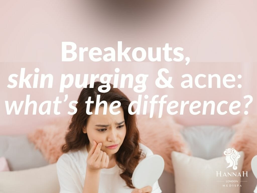 Breakouts, skin purging and acne what's the difference
