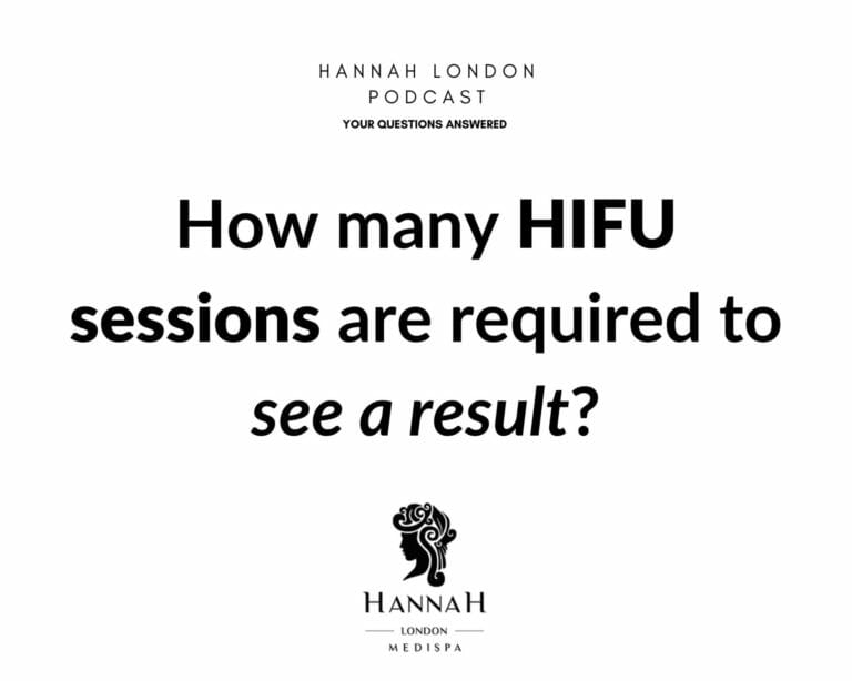 How many HIFU sessions are required to see a results?
